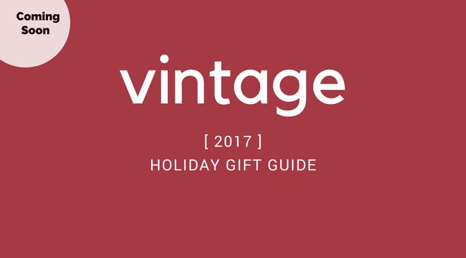 Etsy Holiday Gift Guide 2017