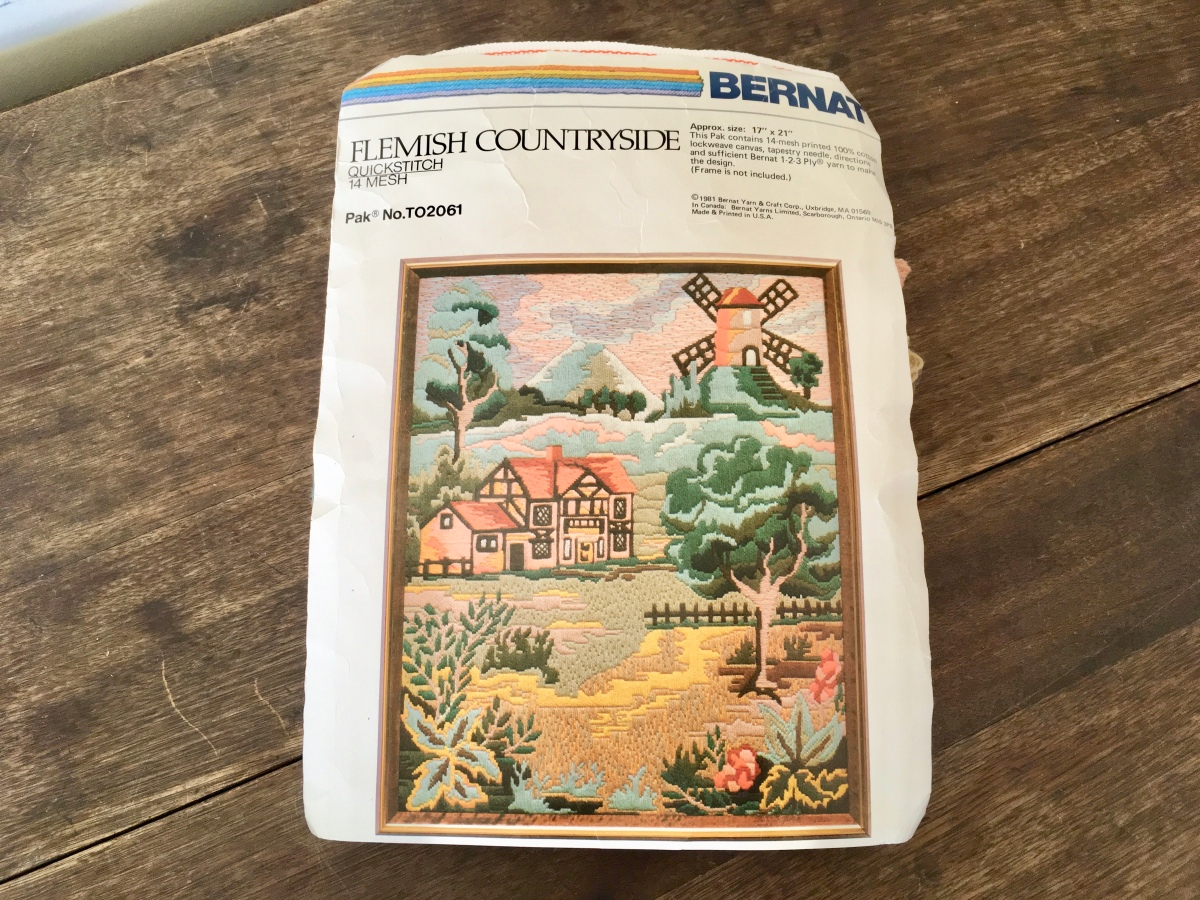 Bernat Flemish Countryside QuickStitch Kit TO2061 | VintageFlicker| Available